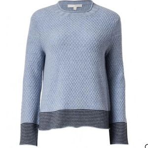 Lisa Todd Honeycomb Blue Cashmere Sweater NEW